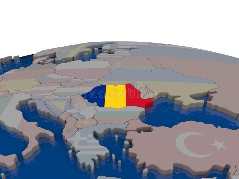 Download Romania with flag stock illustration. Image of politics - 83718388