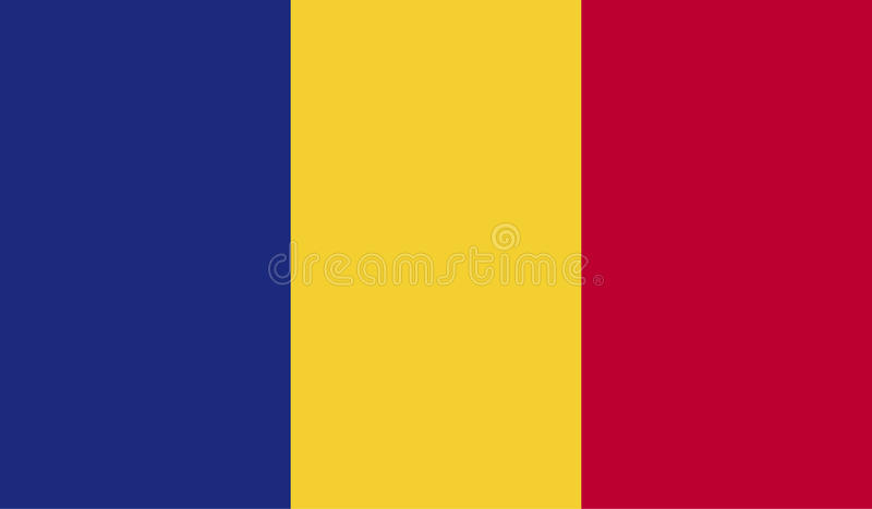 Romania flag image vector illustration