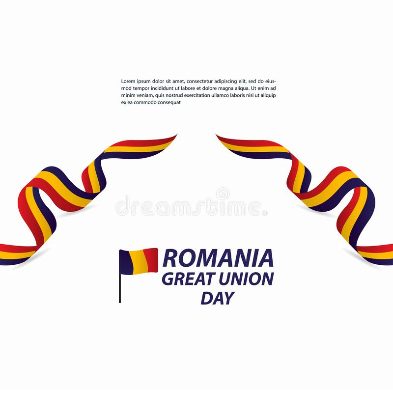 Free Romania Great Union Independence Day Celebration Banner Vector Template Design Illustration Stock Photo - 165660180