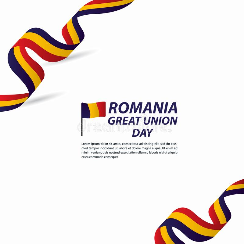 Free Romania Great Union Independence Day Celebration Banner Vector Template Design Illustration Stock Photography - 165660192