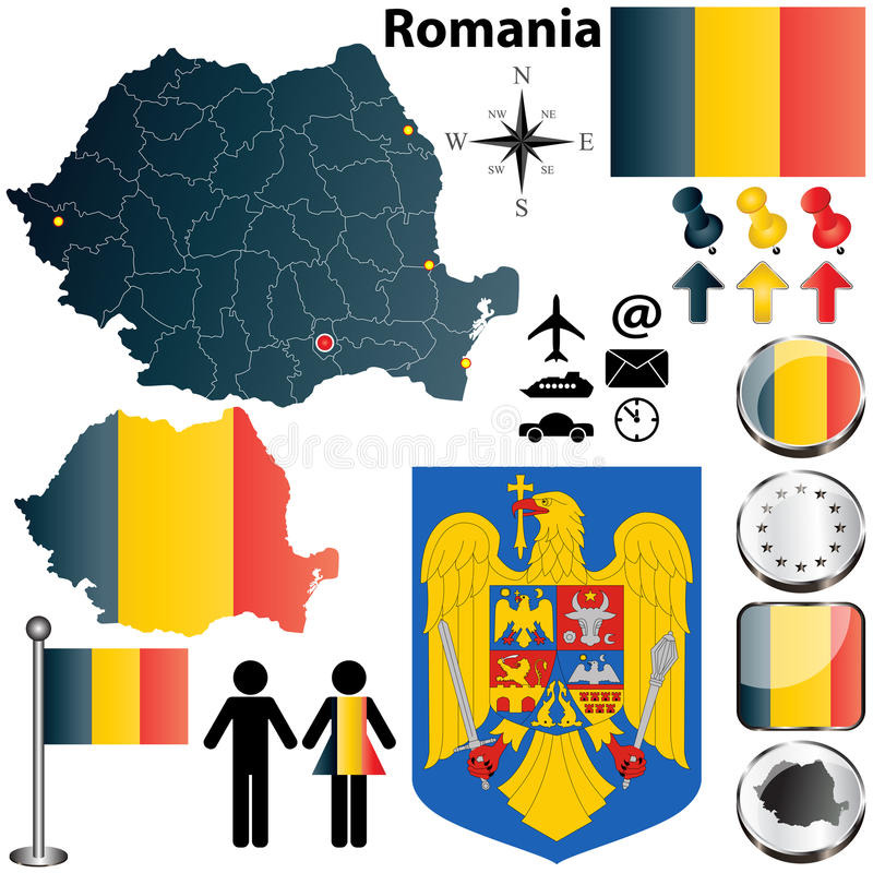 Romania Map Stock Image