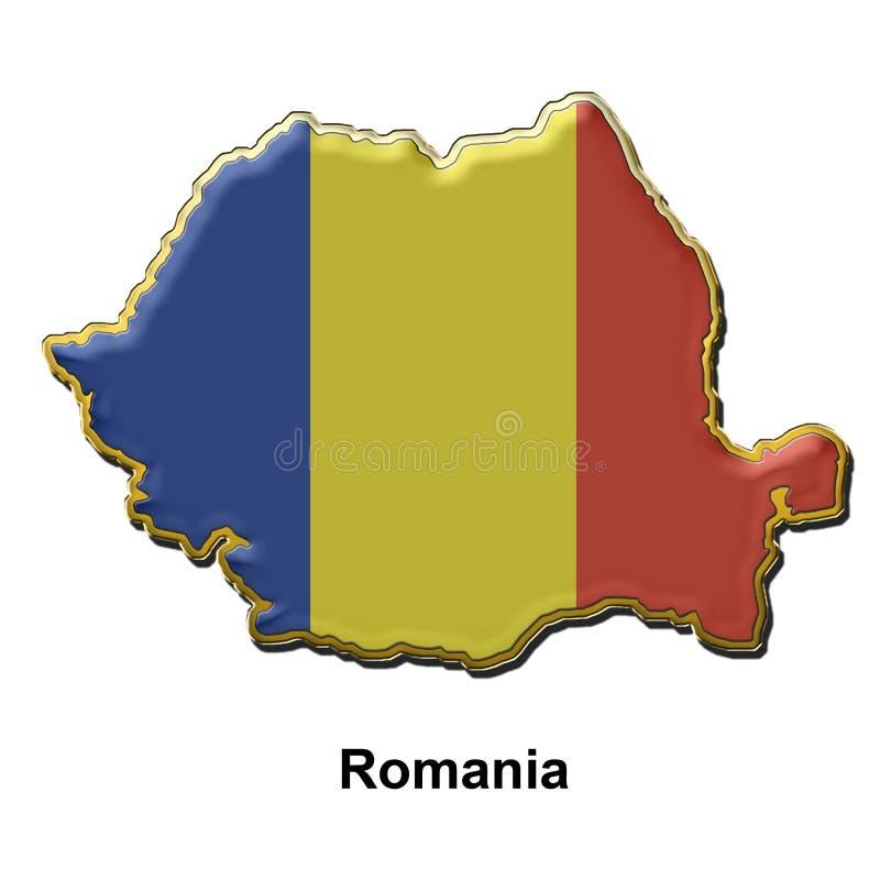 Romania metal pin badge royalty free illustration