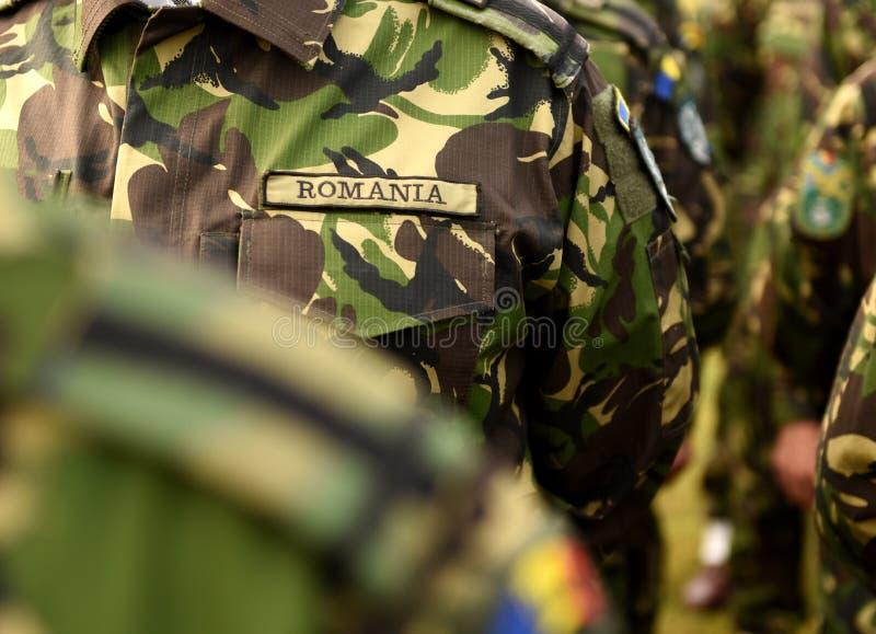 Romania military uniform. Romanian army uniform. Romanian troops.  royalty free stock photography