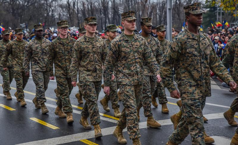 usa army at Romania National Day , 1 december 2017 royalty free stock photography
