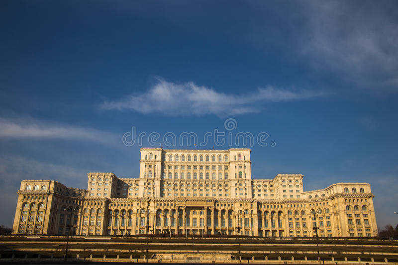 Romania Parliament (Casa Poporului), Bucharest. Romania Parliament from Bucharest, Romania, called House of the People (Casa Poporului stock image