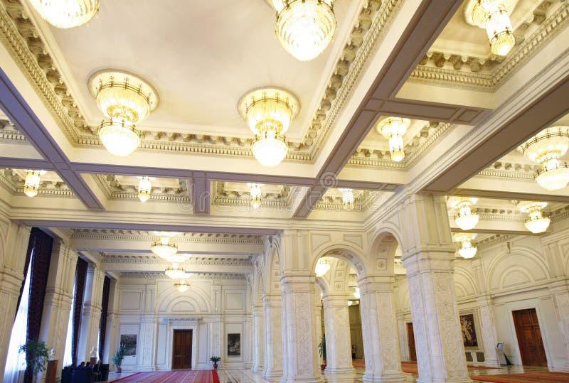 Romania Parliament Palace Interior stock images