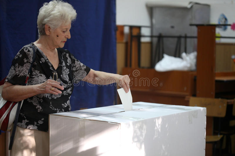 Romania - President Referendum stock photography
