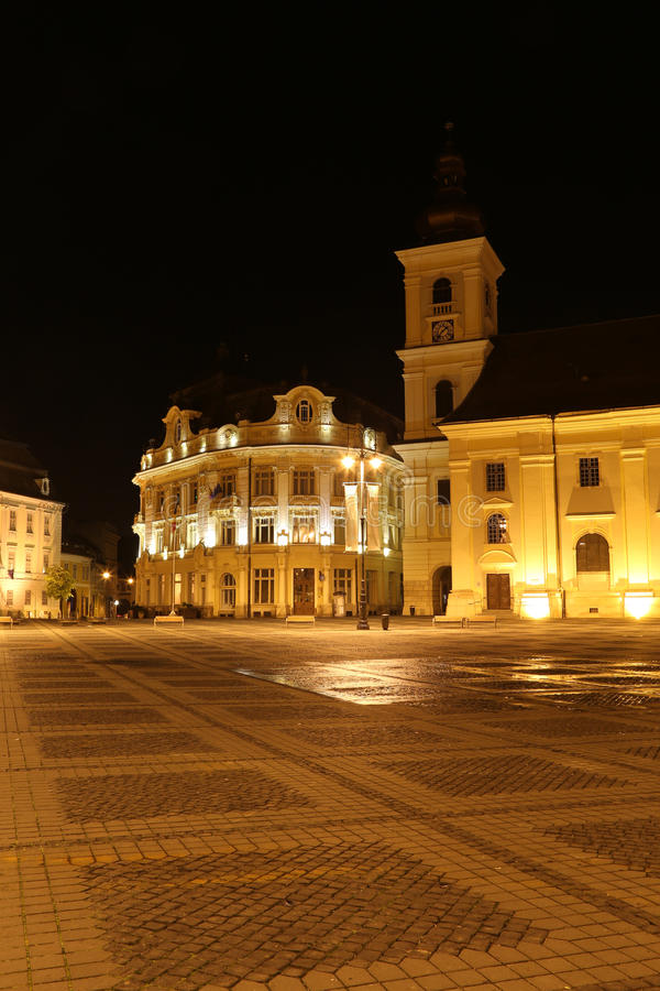 Romania travel: Sibiu Bruckental City Hall stock photos