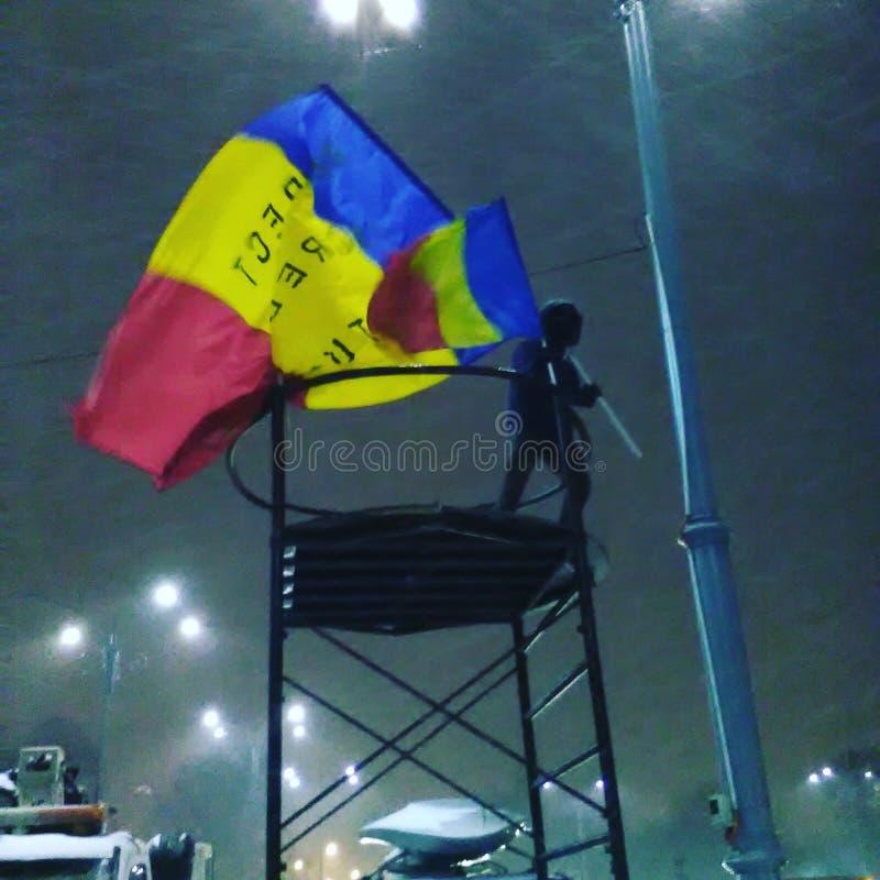 Romanian anti corruption protests stock image