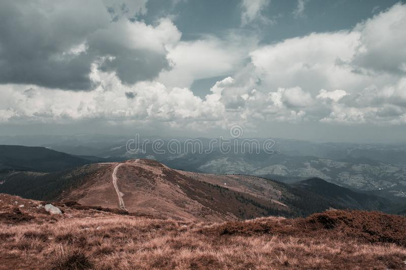 Romanian Apuseni mountains. This photo is taken from the highest peak in Apuseni mountains in Romania royalty free stock photos