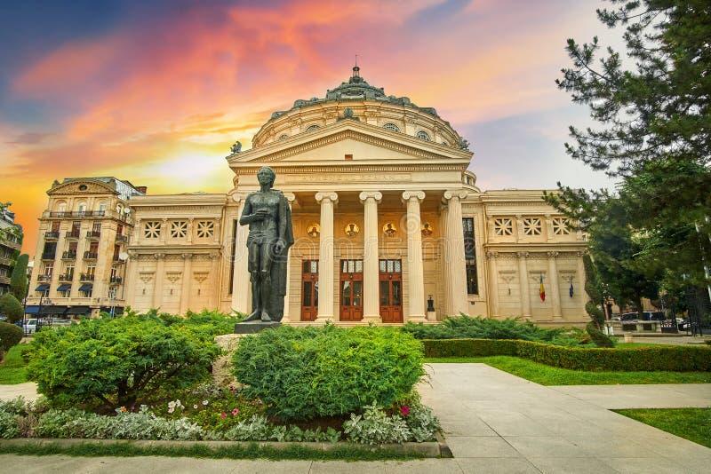 Romanian Ateneum Bucareste imagem de stock