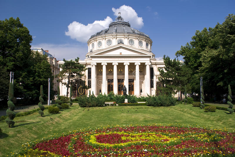 Download The Romanian Athenaeum stock image. Image of cupola, building - 15267067