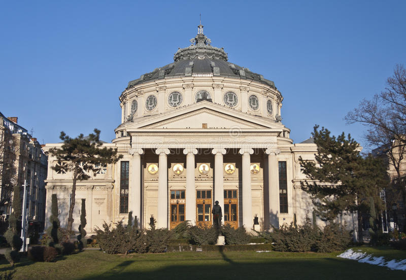 Download Romanian Athenaeum stock photo. Image of colonada, bucharest - 18323072