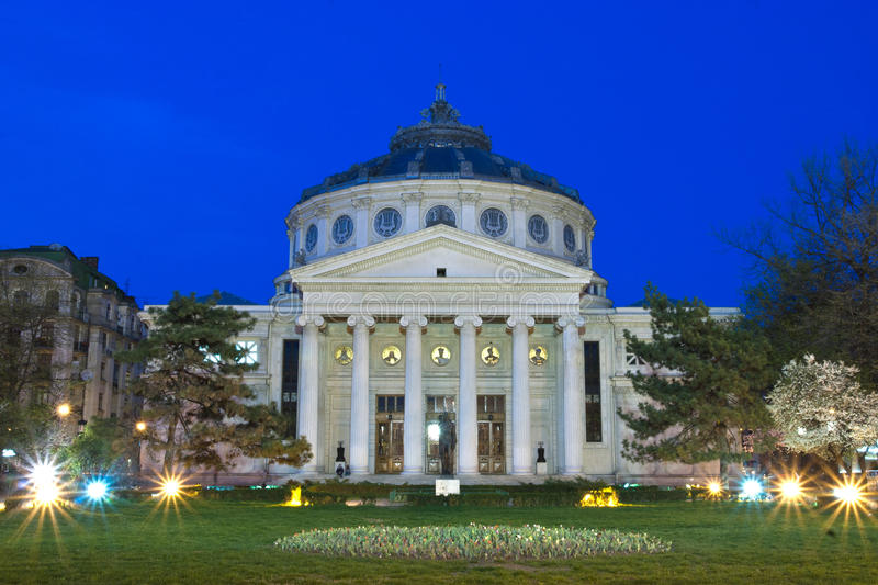 Download Romanian Athenaeum stock image. Image of grass, eminescu - 20642755