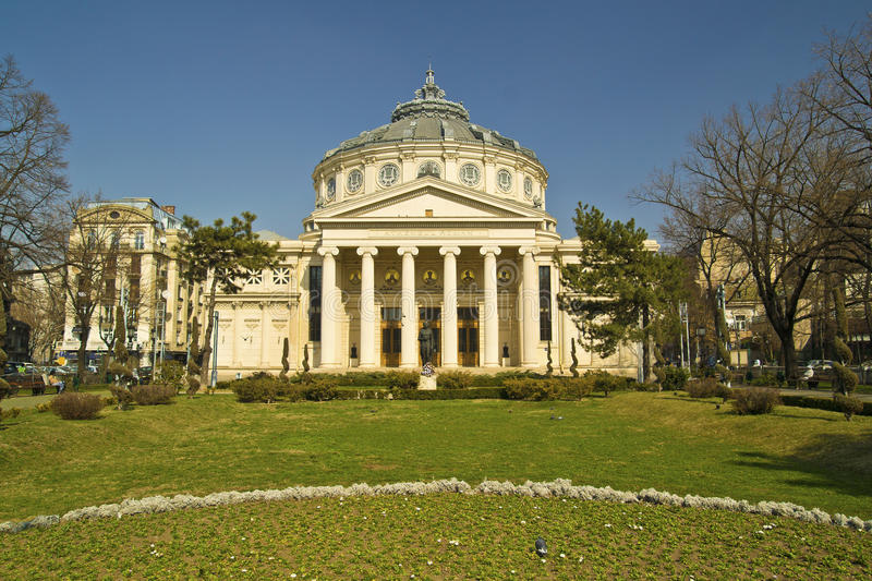 Download Romanian Athenaeum editorial photography. Image of architecture - 23954497