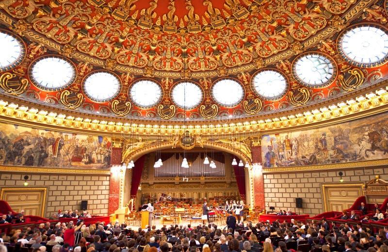 The Romanian Athenaeum royalty free stock photos