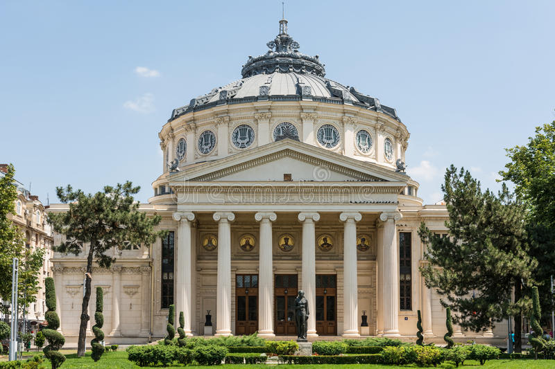Download The Romanian Athenaeum editorial image. Image of facade - 41892090