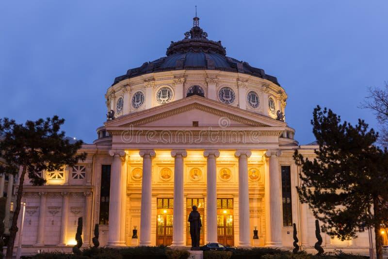 Romanian Athenaeum, Bucharest stock photos