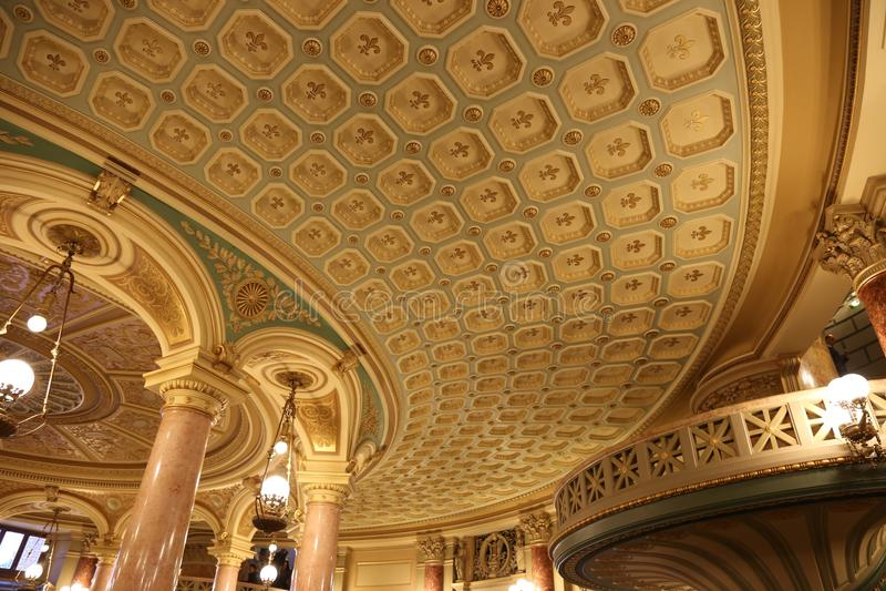 Romanian Athenaeum interior royalty free stock images
