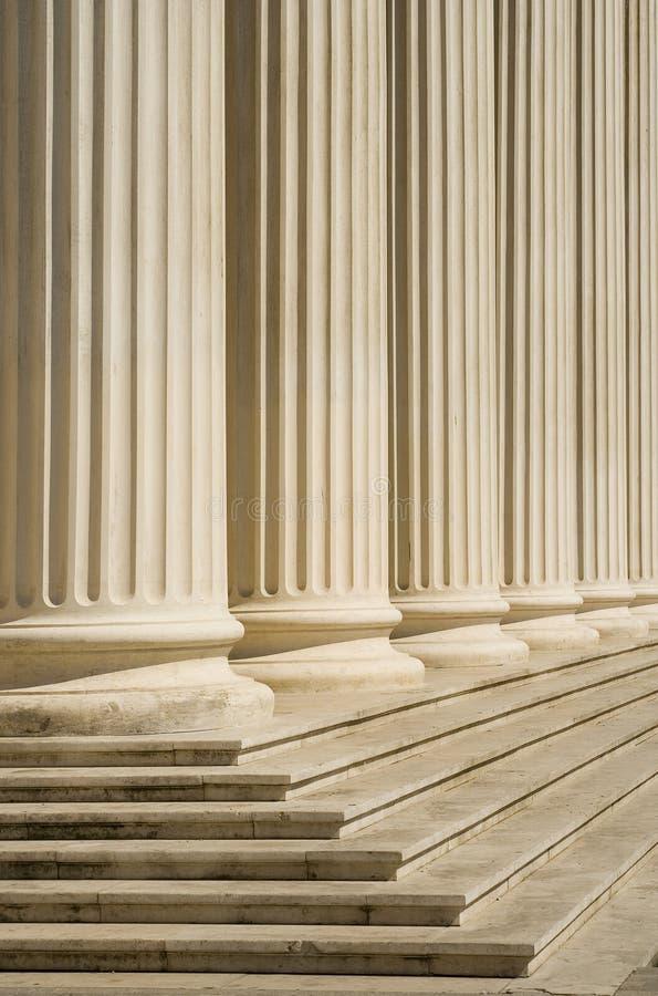 Romanian Atheneum columns stock photo