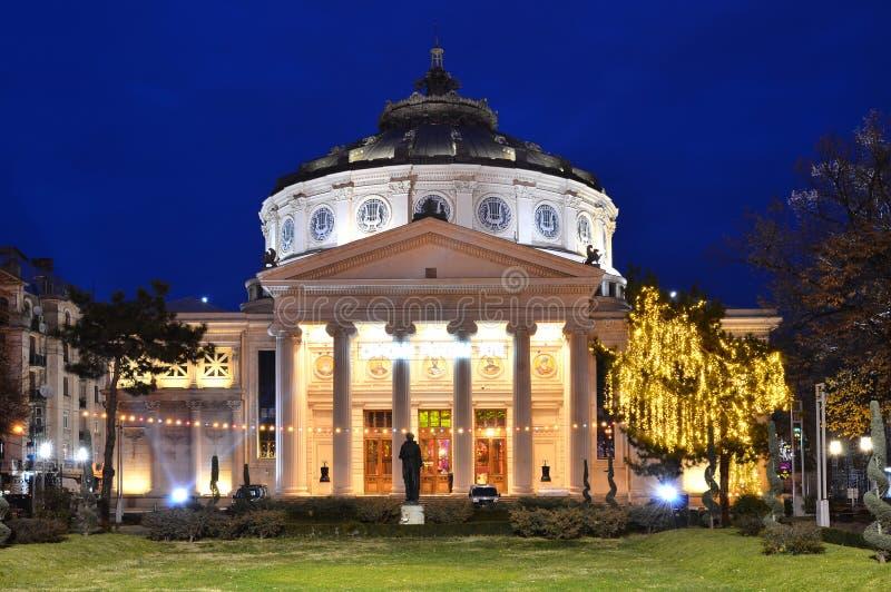 Romanian Atheneum, Romania royalty free stock photo