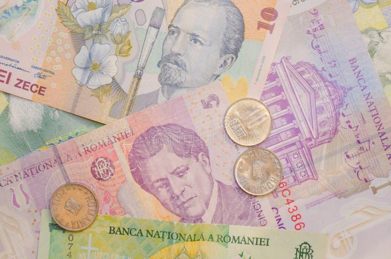 Romanian Banknotes and Coins stock photos
