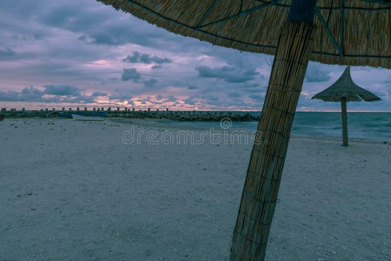 Romanian beach at the Black sea stock photos