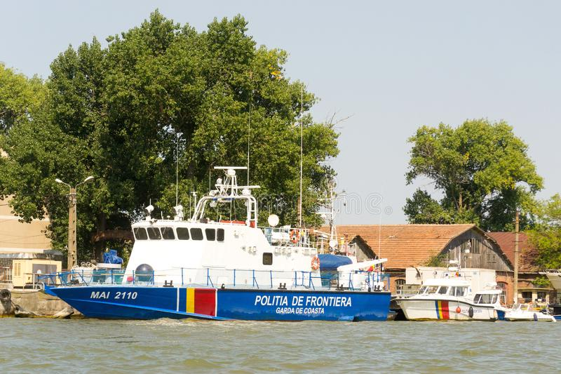 Romanian border police patrol vessel stock image