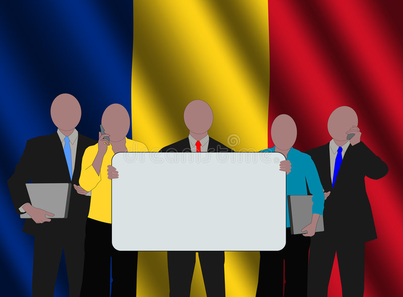 Romanian business team royalty free illustration