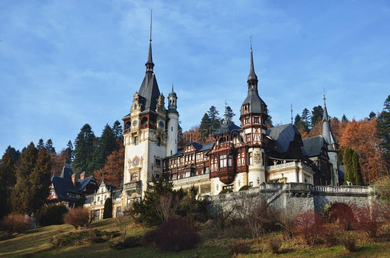 Romanian castle Peles royalty free stock photos