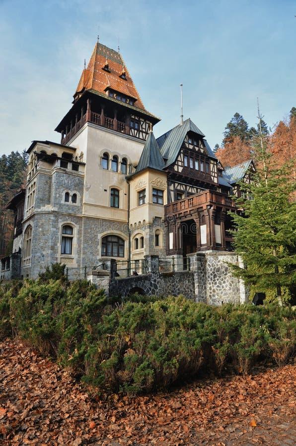 Romanian castle Pelesor stock photo