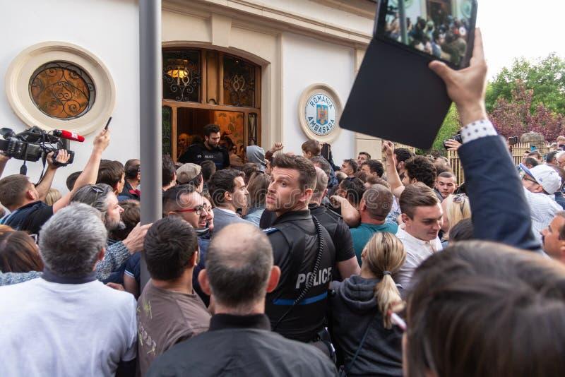 Romanian diaspora voting stock photos
