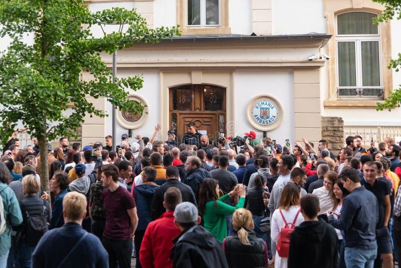 Romanian diaspora vote royalty free stock photography