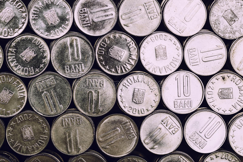 Romanian coins royalty free stock image