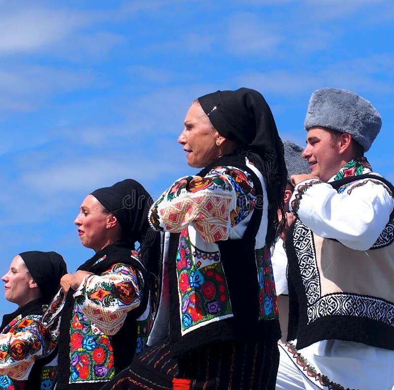 Romanian Dancers. At Edmonton's Heritage Festival August 2, 2015 royalty free stock photos