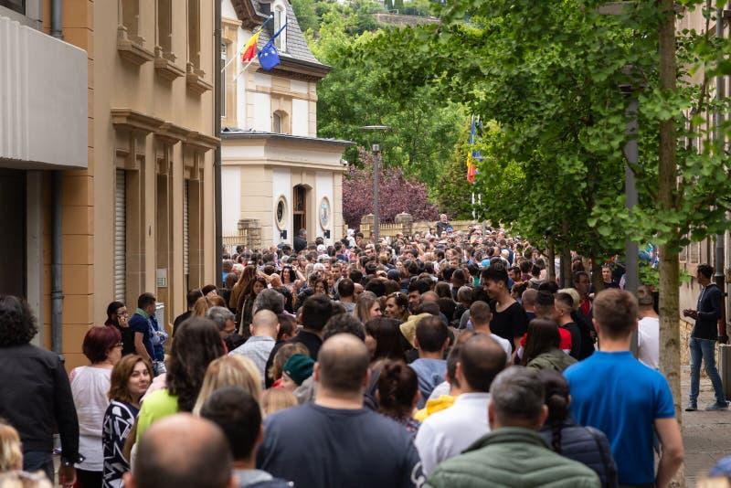 Romanian diaspora voting royalty free stock photography