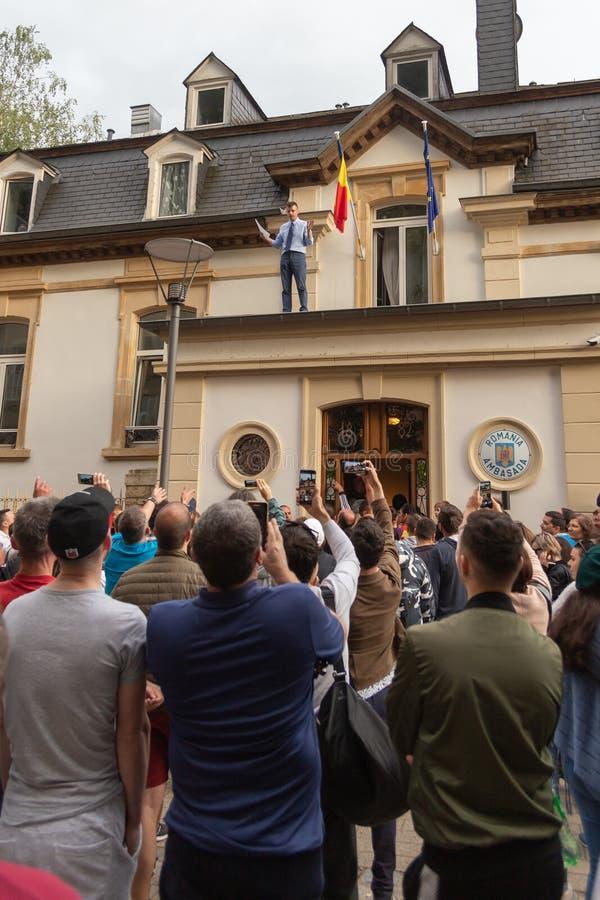 Romanian diaspora voting royalty free stock photos