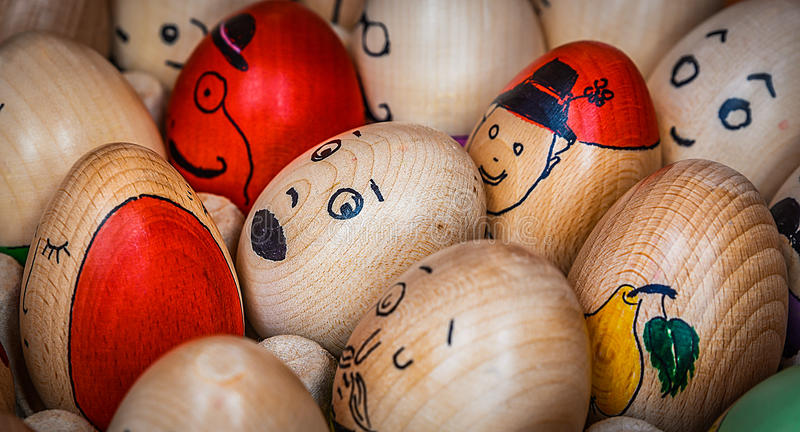 Romanian Easter Tradition stock photo