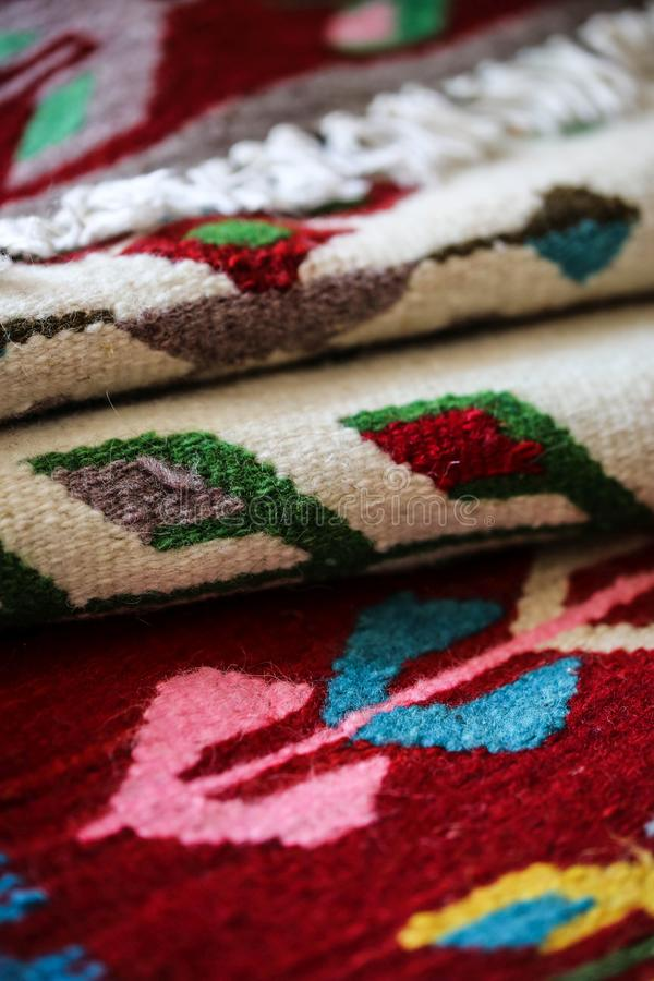 Romanian Traditional Rug Stock Image Image Of Design