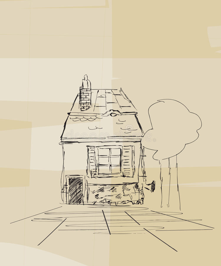 Download Romanian house sketch stock vector. Image of kind, modern - 28218024