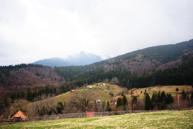 Romanian krajobraz fotografia stock