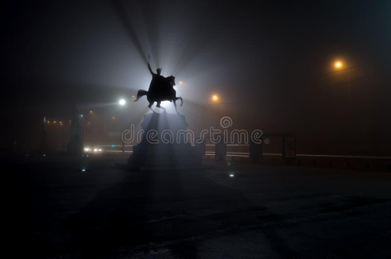 Download Horseman statue stock photo. Image of night, lighting - 28669308