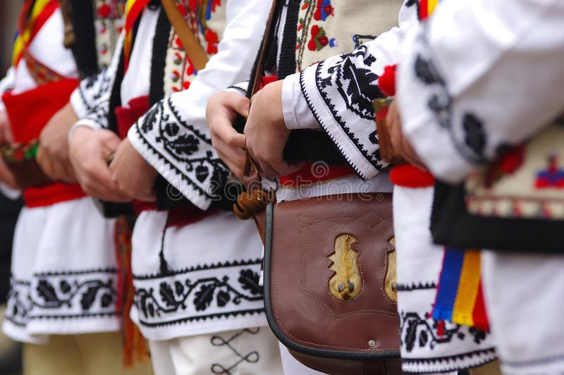 Traditional romanian clothes royalty free stock photos