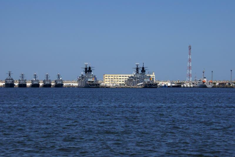 Romanian Military Navy at the Black Sea. stock image