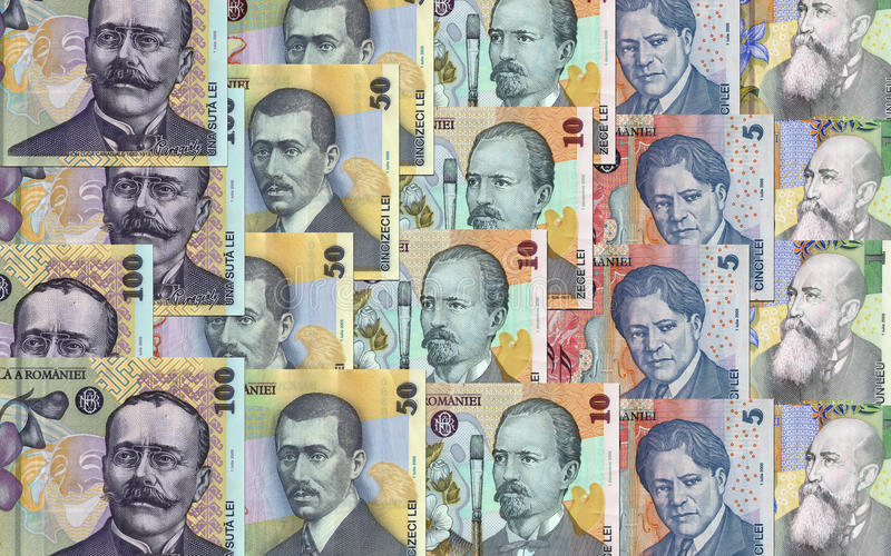 Download Romanian money stock image. Image of romania, caragiale - 30448641