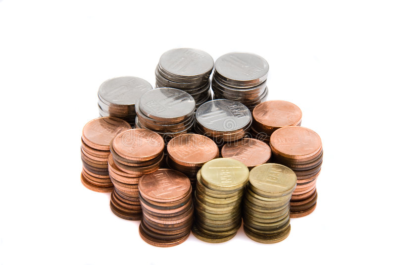 Download Romanian money in coins stock image. Image of amount, credit - 8177635