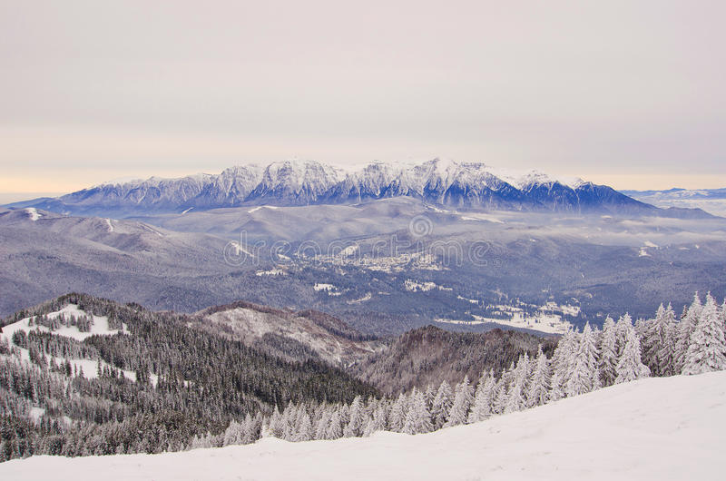 Download Romanian Mountains Landscape Stock Image - Image of mist, covered: 28443445