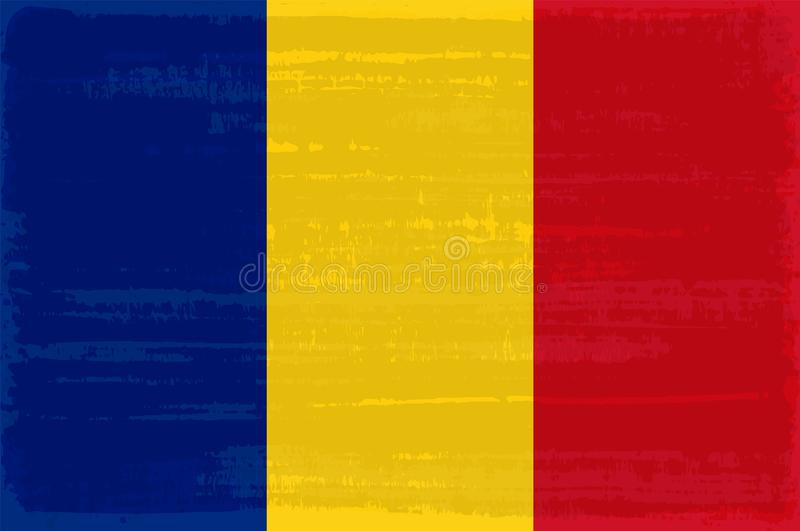 Romanian national flag isolated vector illustration. royalty free illustration