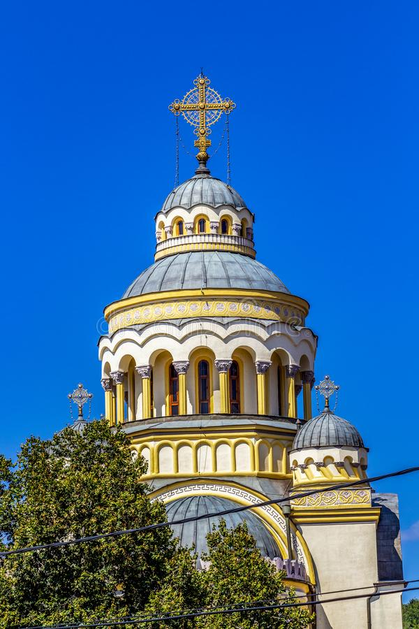 Free Romanian Orthodox Cathedral Dome Stock Photography - 153221962