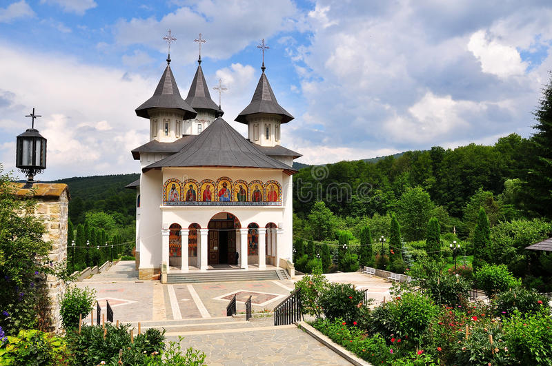 Romanian Orthodox Monastery stock photography